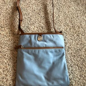michael kors bags light blue crossbody purse poshmark rh poshmark com